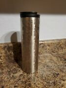 Starbucks 2012 Silver Hammered Stainless Steel Travel Tumbler 16oz. Hot Cold