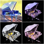 Crystal Piano Music Box For Valentine Wedding Gifts Home Decoration Ornaments