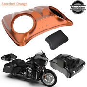 Scorched Orange Dual 8and039and039 Speaker Lid For Advanblack/harley Chopped Tour Pak Pack
