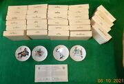 28 Norman Rockwell Mini Plates Four Seasons Limited Edition - Resale Opportunity