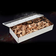 Thicken Smoker Box Wood Chips Charcoal Gas Grill Bbq Grilling Accessories