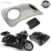 Sand Dune Dual 8and039and039 Speaker Lids For Advanblack/harley Chopped Tour Pak Pack
