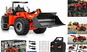 114 Scale 22 Channel Full Functional Remote Control Front Loader Black - Red