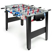 42 Wooden Foosball Table For Adults And Kids Home Recreation Ergonomic Handle New