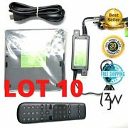 Lot Of 10 Atandt Direct Tv Streaming Box C71kw-400 Includes Remote And Power Adapter