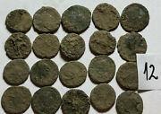 Beautiful Uncleaned Medium Quality Ancient Roman Coins 20pcs