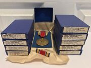 10 Original 1946 Wwii Us Victory Medals And Ribbons Nos New Old Stock