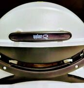 Used-table Top Portable Lp Gas Weber Q1000 Bbq Tailgating Grill, Works No Grate