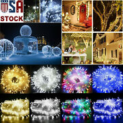 10/20/30/100/200m Led Christmas Tree Fairy String Party Lights Waterproof Lamp