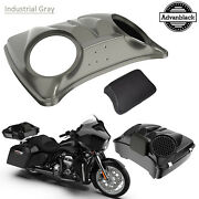 Industrial Gray 8and039and039 Speaker Lids For Advanblack/harley Chopped Tour Pak Pack