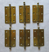 Ball Tip Flush Hinge 3 X 2 Stanley Works Made In The Usa Door Cabinet Cupboard