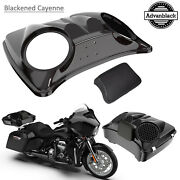 Blackened Cayenne 8and039and039 Speaker Lids For Advanblack/harley Chopped Tour Pak Pack