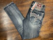 Rock Revival Menand039s Jeanand039s -treetop A203r Alt Straight Jean