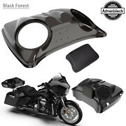 Black Forest 8and039and039 Speaker Lids For Advanblack/harley Chopped Tour Pak Pack