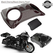 Black Cherry 8and039and039 Speaker Lids For Advanblack/harley Chopped Tour Pak Pack