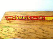 Camel Metal Screen Door Sign Vintage 1940and039s 50and039s Extremely Rare
