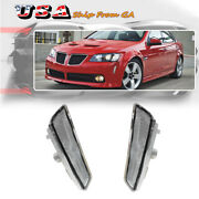 Clear Euro Front Bumper Side Markers Light Housings For 08 09 Pontiac G8 Gt Gxp