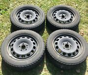Mk6 07-17 Jetta Gli 4 Used Steel Wheels 16 With Used Snow Tires 5k0601027a03c