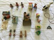 Antique Children's Toys From The 1940s Lot Of 14