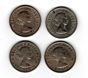1962-1966 Great Britain Two Shillings Florin Old Vintage European Foreign Coin
