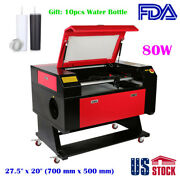 Usa 27.5 X 20 80w Co2 Laser Engraver Cutter With Laser Tube + Water Bottle