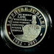 2017 Uk 5 Pound Piedfort Sapphire Jubilee Silver Coin Shine Through The Age