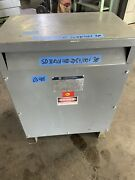 Square D 30t3h 30 Kva 480-208y/120 Volt 3 Phase Transformer Tested And Guaranteed