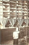 Rppc Tailor Shop Interior New Home Sewing Machine Clothing Shelves Early 1900s