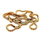 18k Solid Yellow Gold Mens Box Chain Necklace 27 2.3 Mm 21.8 Grams