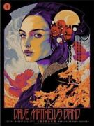 Dave Matthews Band Poster Chicago, Il Northerly Island 8/6/21 Ken Taylor In Hand