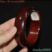 2.8'' Old Chinese Dynasty Hetian Jade Carved Jewelry Bracelet Hand Ring Circle