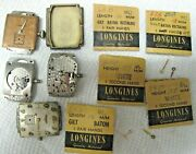 Lot Of Longines 9l Movements And Parts For Repairs And Some Good Parts And Hands