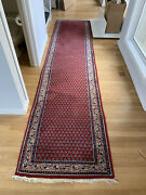 Antique Oriental Mir Boteh Runner Rug - 2and0398 X 11and0398