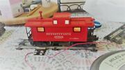 Lionel O Scale 477618 2457 Pennsylvania Metal Lighted Caboose W/ Smoke Stack