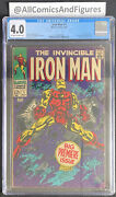 Iron Man 1 Cgc 4.0 Ow-white Pages Origin Of Iron Man Classic Cover