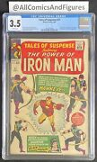 Tales Of Suspense 57 Cgc 3.5 White Pages First Hawkeye New Disney Series