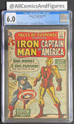 Tales Of Suspense 59 Cgc 6.0 Cr-ow Pages First Solo Captain America Since 50s