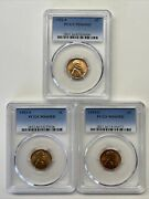 1952-s, 1953-s, 1954-s Pcgs Ms66rd Lincoln Cents All 3 Coins For One Low Price