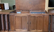 Zenith Mid Century Modern Stereo Console With Turntable And Am/fm Radio.