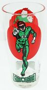 Green Lantern Pepsi Super Series Moon Glass 1976 Dc Vintage Bright Colors Clear