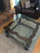 Rare Ethan Allen Antiqued Pine Square Cocktail Coffee Table 12-8081 Old Tavern