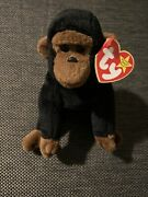 Ty Beanie Baby Congo The Gorilla Plush Toy - 4160 Rare See Tags
