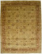 Gold Beige Hand-knotted Over-sized Oushak 12x15 Oriental Rug Wool Decor Carpet