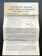 Lionel 2035-13 Smoke Locomotives With Magne-traction Instructions Original