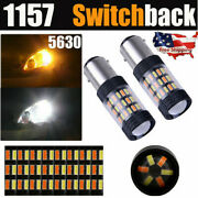 Pair 1157 Switchback 60smd Led Bulb Turn Signal Drl Lights For 1999-2018 Suzuki