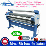 Us 63in Full-auto Wide Format Cold Laminator Large Laminating Machine Max 35mm