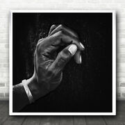 Man Hand Africa Namibia Dark Low-key Fingers Thumb The Patient Wall Art Print