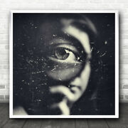 Magnifying Glass Eye Detective Agent Big Brother Examine Watch Wall Art Print