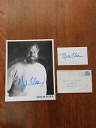 Merlin Olsen Signed 8 X 10 Photo And Index Card With Return Mail Envelope Mint