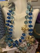Exagerated Blue Necklace